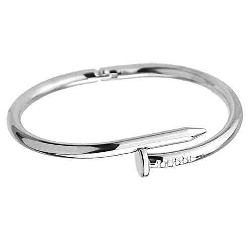MATBC Nagel Manschette Armreifen Kupfer Armbänder Für Frauen Gold Schmuck Edelstahl Schraube Armband