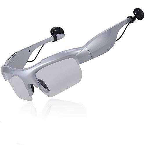 WNZL Intelligente drahtlose Bluetooth-Sonnenbrillen 4.1 Musik und Hands-Free Calling Polarisierte Objektive Video-Recording wasserdichte Sportmotorzyklusgläser,Silver