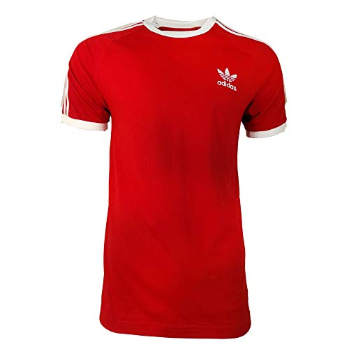 Adidas 3-stripes t-shirt, maglietta uomo, power rosso, s