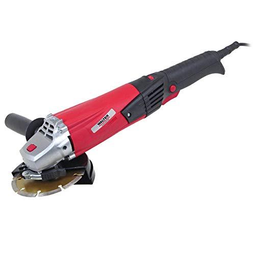 WALTER Winkelschleifer 1200W, 125mm, schwarz/rot, Zusatzhandgriff in 3 Positionen montierbar, Schnellverschluss, Drehzahl elektronisch regelbar