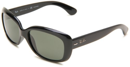 Ray Ban Damensonnenbrille Jackie Ohh RB4101 601 Größe 58, Black Crystal Green