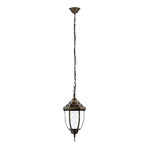 Traditional Hanging Outdoor Lantern Antique Gold IP43 rated 2/4/813