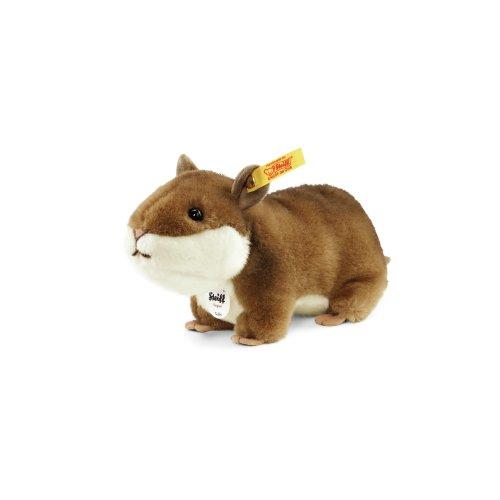 Steiff 071836 - Goldy Hamster 17 Plüsch, braun/weiß