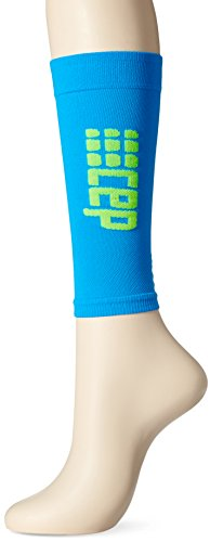 CEP Damen Progressive + Ultralight Calf Sleeves mit Kompression, leichte, atmungsaktiv Passform für Crosstraining, Laufen, Sport, Recovery, Schienbein Teilt, Wade, Zerrungen, und Leichtathletik, unisex, WS45D, Electric Blue/Green, Size II