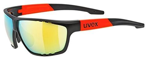 Uvex Sportstyle 706 Fahrrad Brille schwarz/orange