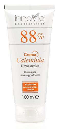 Crema alla Calendula 88% - 100ml - Indicata per Ustioni, Scottature, Irritazioni, Prurito e per Dermatiti - Perfetta per Pelli Sensibili e Delicate - Lenitiva e Emolliente - Made in Italy