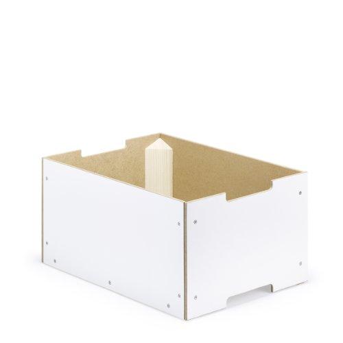 livendor Mehrordnungsbox MOX_3 standard, 395 x 295 x 200 mm, weiß, rückenschonende Stapelbox für schöneres Ordnen und Aufbewahren