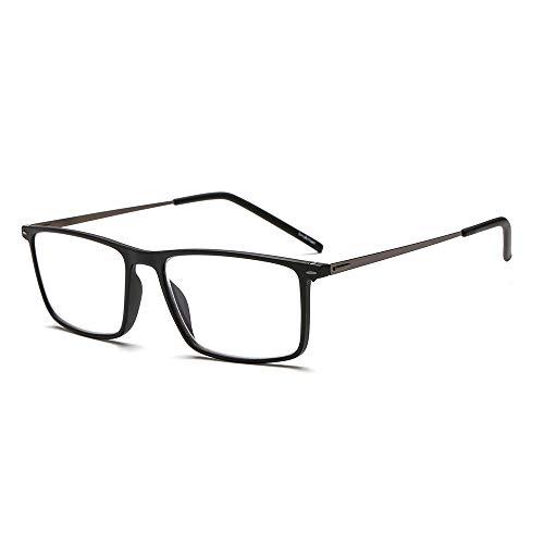 Suertree Lesebrille Ultralight Computer Gläser Frauen Männer schlanke Leser Vintage Edelstahl Frame Brillen BM501