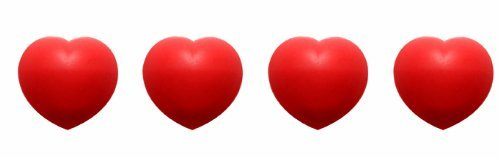 Zak Designs 0078-530 Jacks Coeur Boite de 4 Dessous de Plats Modulables Coeur Rouge