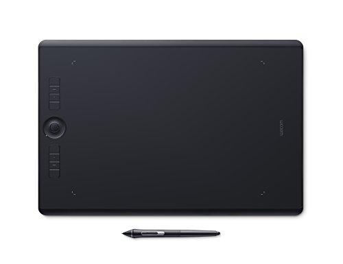 Wacom Intuos Pro Large Grafik-Tablett mit Bluetooth-Funktion - Großflächiges Format für digitales Zeichnen und Fotoretusche mit besonders hoher Drucksensitivität und anpassbaren Befehlstasten