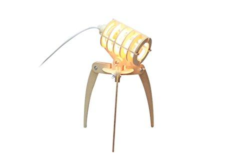 HETAO Lámpara De Escritorio De Madera, Lámpara De Noche Pixar Lámpara De Lectura con Protección para Los Ojos Dormitorio De Habitación con Dormitorios Lámpara De Escritorio De Montaje