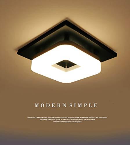 Artpad 12W llevó la luz de techo, instale fácilmente la lámpara brillante del soporte de la superficie de la plaza negra para el cuarto de baño del comedor y la luz blanca cálida del comedor