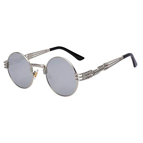 Yuanz Sonnenbrille-Frauen-Mann-Metallrahmen-Brillen für weibliche Retro- Schatten-Sonnenbrille Uv400,G