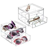 Best MetroDecor Eyeglasses - mDesign 2 pc. Set Stackable Eyeglass Organizer Holder Review
