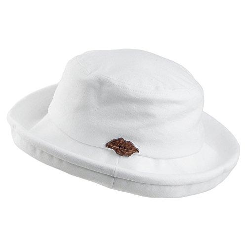 Village Hats Sur LA tête Packable Arbres Bucket Hat - White