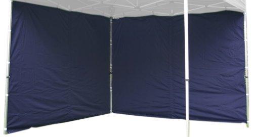 Nexos 2 Stück Seitenwände Seitenteile Ersatzwände ohne Fenster für Falt-Pavillon - 295 x 215 cm/PE 180 g/m² - hochwertig wasserabweisend - blau