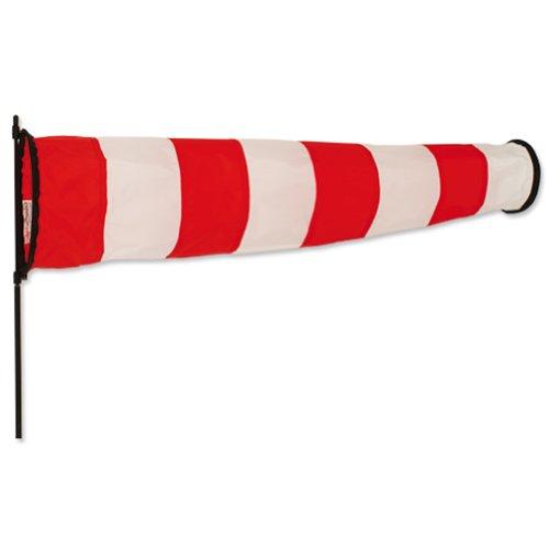 Rouge et blanc directionnelles Manche à Air avec piquet. Grand