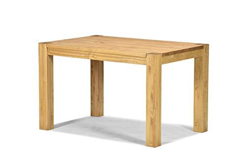 Naturholzmöbel Seidel Esstisch Rio Bonito 120x80 cm, Pinie Massivholz, geölt und gewachst, Holz Tisch für Esszimmer, Wohnzimmer Küche, Farbton Honig hell, Optional: passende Bänke und Ansteckplatten (Esszimmer Massivholz Tisch)