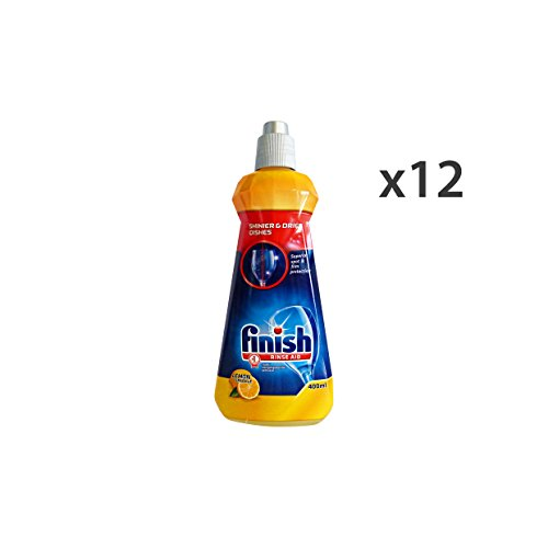 FINISH Set Kit Geschirrspüler 12 Spülen Lemon 400 Ml. Geschirrspülmaschinen-Reiniger
