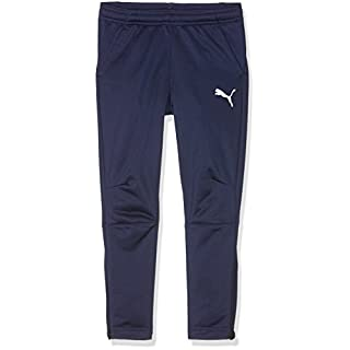 Puma - Liga training pants  - Pantalon de survêtement - Mixte Enfant - Bleu (Peacoat-puma white) - FR: 14 ans (Taille Fabricant : 164)