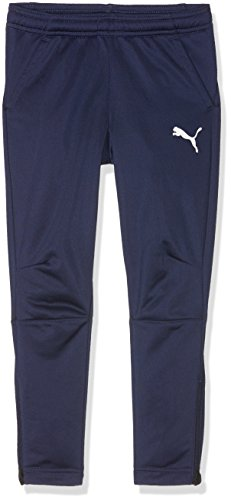 PUMA Kinder Liga Training Pants Jr Hose, Blau(Peacoat-Puma White), 152