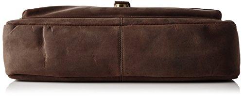 James Tyler Echtledertasche aus Büffelleder Coffee Vintage