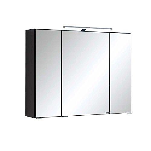 Bad Spiegelschrank mit 3D Effekt Anthrazit Breite 90 cm Pharao24 - 3
