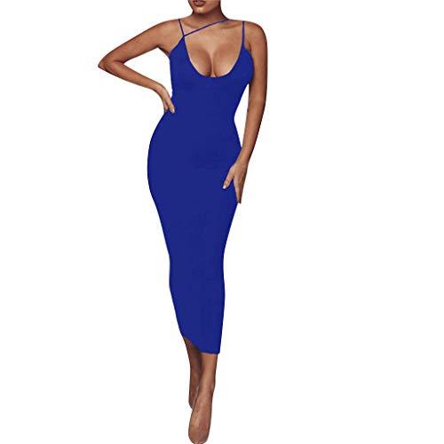 ashion Einfarbig Sexy Sleeveless Dress Party Nachtclub Bar Cocktail Festliche Kleider Öffnen Sie Sich zurück ()