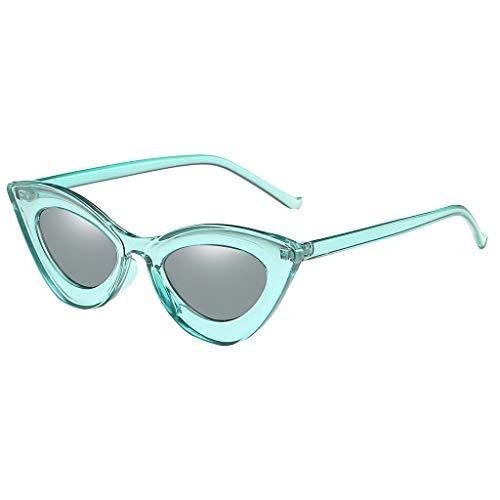 Lazzboy Mann Frauen Cat Eye Sonnenbrille Brille Shades Vintage Retro Style Brillenfassungen Damen Kunststoff Brillen, Sonnenbrillen & Zubehör Amerika Punk Wild Persönlichkeit(Grün)