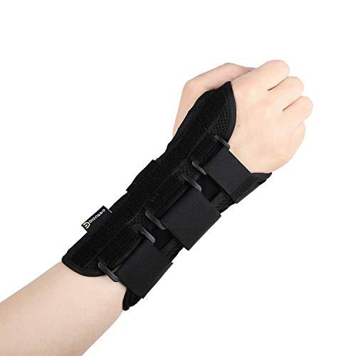 Disuppo Muñequera ajustable para ejercicio deportivo, dolores de muñeca, esguinces, estrés repetitivo, artritis, rehabilitación de lesiones y protección contra lesiones, para hombre y mujer (derecha)