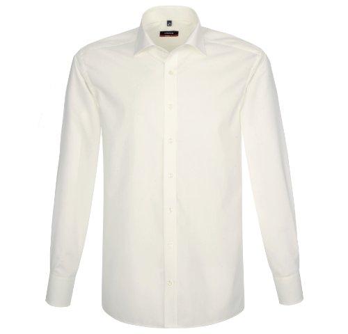 Chemis'à manches longues pour homme coupe moderne» Blanc - Blanc cassé