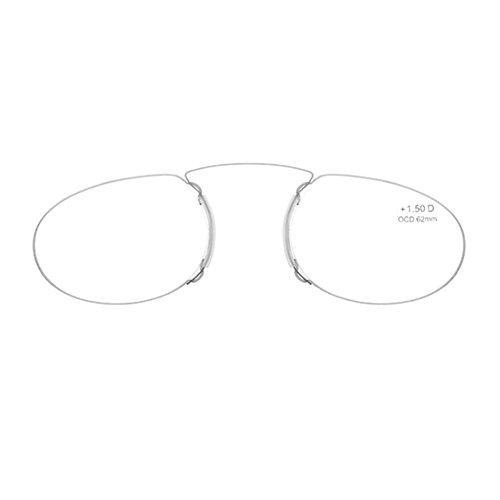 0bfeec2da6 Gafas de lectura sin patillas graduadas para hombre y mujer transparentes gafas  de presbicia para hombre