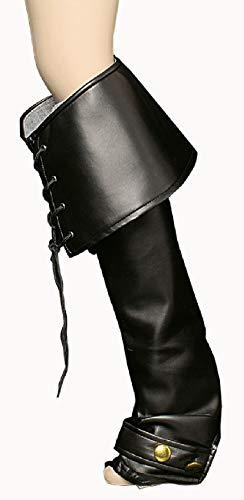 K84250699-A schwarz Luxus Herren Stulpen Siefelstulpen