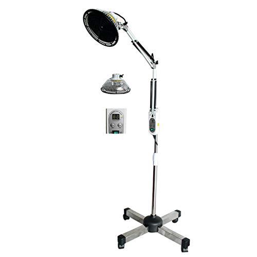 OCYE 250W Infrarot Lampe Infrarotlampe Strahler Wärmelampe Rotlichtlampe Pflege Höhenverstellbar,Mit Rädern,EIN-Knopf-Schalter