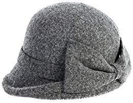 SIGGI SIGGI graue Wolle 1920s Retro Fedorahüte Kirche Hüte für Frauen Filzhut Klassisch Bowler Hut