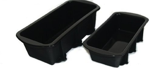 WellBake 2lb, 1lb Loaf Pan Set. Heavy Duty Non-Stick Silicone Bakeware + 10 Year Guarantee