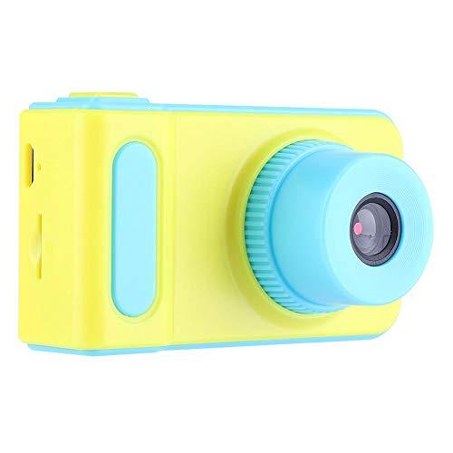 Topiky Mini Kinder Kamera, 2 Zoll f / 2.6 1080P Tragbare Cartoon Digital Video Camcorder Spielzeugkamera Wunderbares Geschenk für Kinder Unterstützung Wiedergabe/Spiel(Blau)
