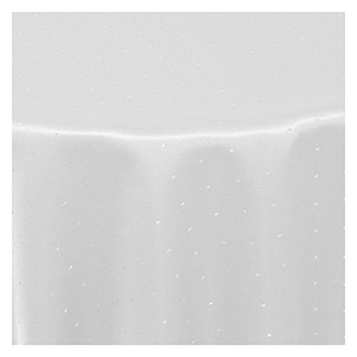 Tischdecke Stoff Damast Jacquard Textil Tischtuch Punkte Dots Points Sonderposten rund 135 cm in Weiss