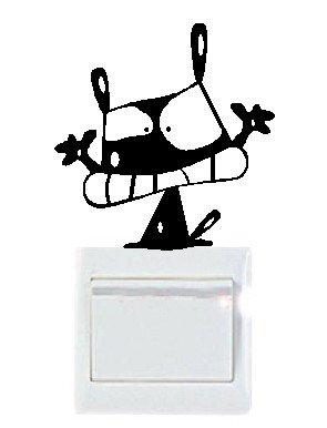 Vinilo decorativo pegatina pared, cristal, puerta - gato