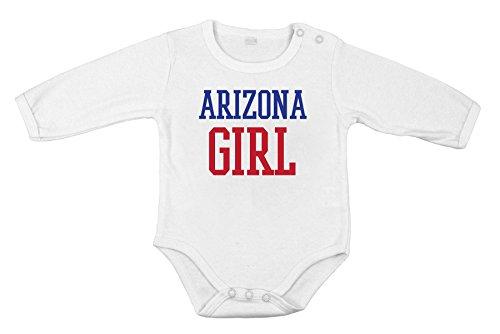 Del cotone del bambino neonato Body lungo Tutina Arizona ragazza regalo Stato USA unisex