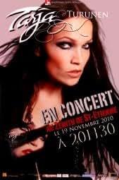 NIGHTWISH TARJA TURUNEN - St Etienne Nov 2010 Music Poster