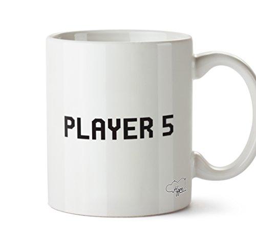 hippowarehouse Player 5283,5Tasse, keramik, weiß, One Size (10oz)