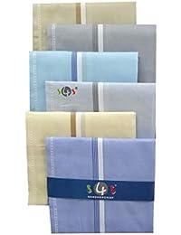 S4S Men's 100% Cotton Essential Handkerchiefs/Hankies for Men