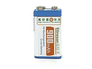 Pile 9V Rechargeable Li-ion 900mAh Etinesan