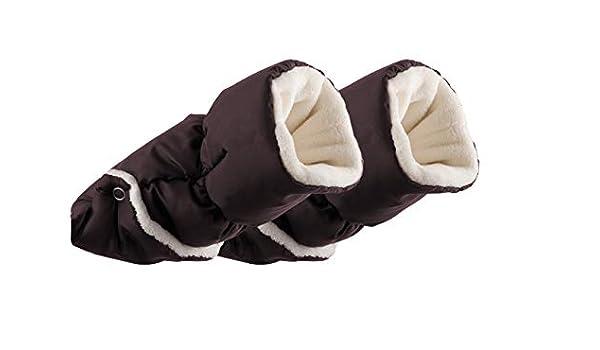 Noir Moufles gants pour chariot Chaise de b/éb/é cheveux extra-suave et ecopiel