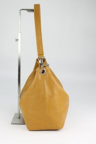 BELLI® kleine Ledertasche Shopper Little Princess - Farbauswahl - 26x24x14 (B x H x T) Cognac light