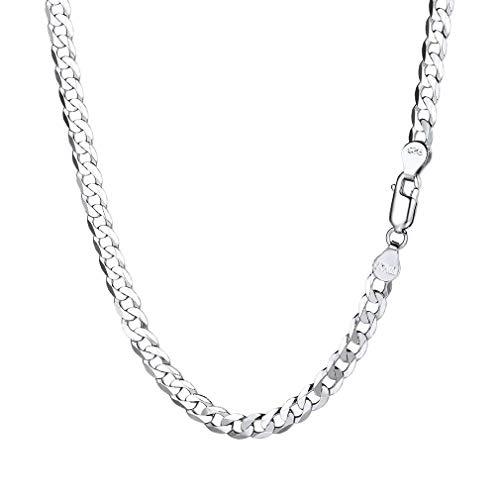 """PROSILVER Chaîne Collier Homme Argent 925 Link Chain Maille Gourmette Bijoux Simple pour Garçon - Largeur 2.8mm - Longueur 18""""/46cm Cadeau Parfait"""