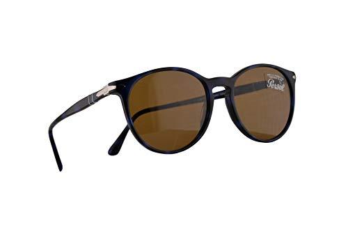 Persol 3228-S Sonnenbrille Havana Blau Mit Braunen Gläsern 53mm 109953 PO 3228S PO3228S PO3228-S