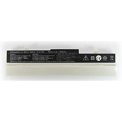 Batería Compatible Color Blanco Para ASUS EEE PC 1001 EEEPC Nueva 4,4Ah EEPC Ordenador