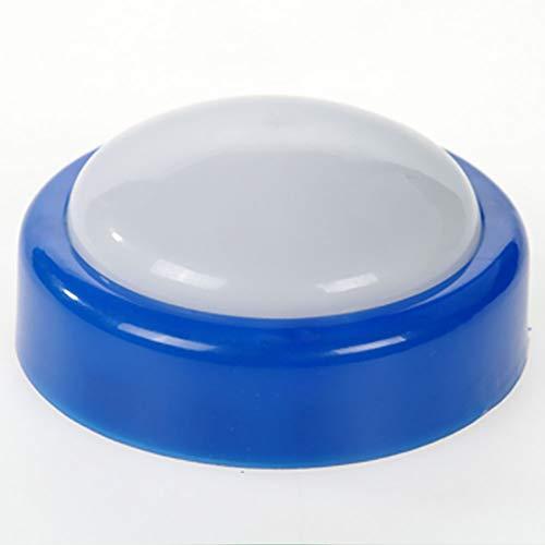 Led-lampe Batteriebetriebene nachtlichtlampe Aktivitäten Lampe Push Tap Mini Button Type(Blau) Blau Push-button